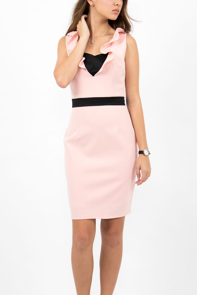Fabiola Bustier Bandeau Dress - Blush Pink