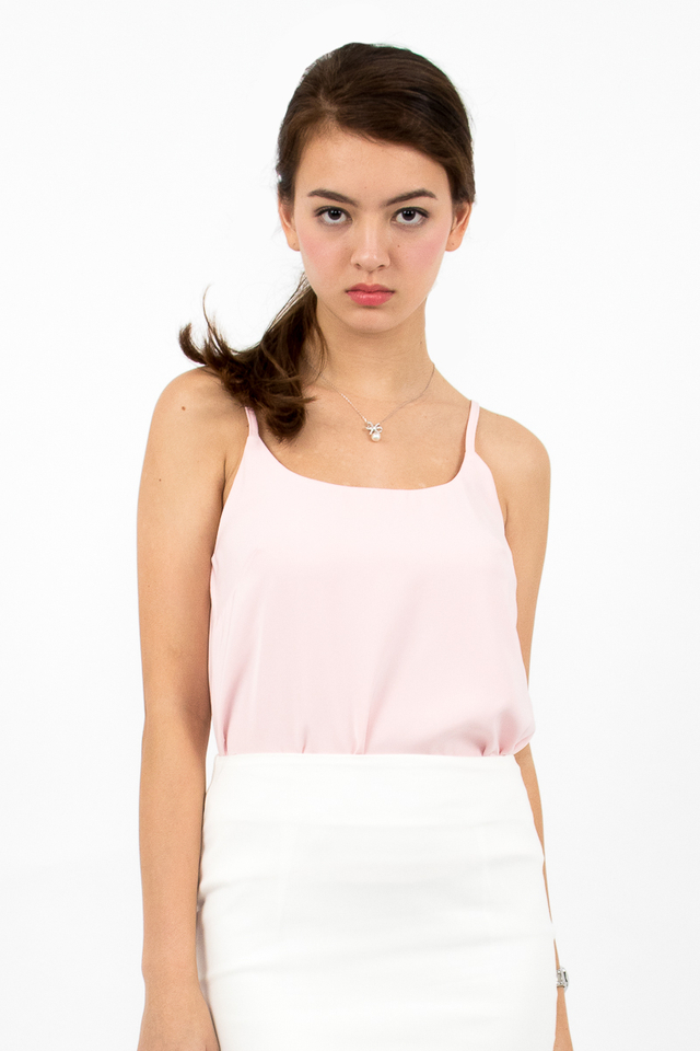 Inez Staple Spag Top - Pink